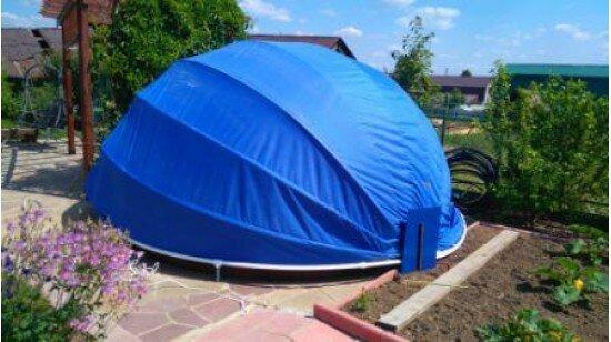 Тент сфера на бассейн диаметром 1,5 метра