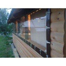 Окна на веранду  дачного домика из ПВХ